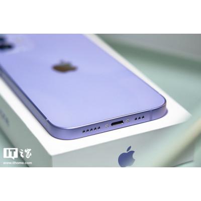 Живые фото фиолетового iPhone 12